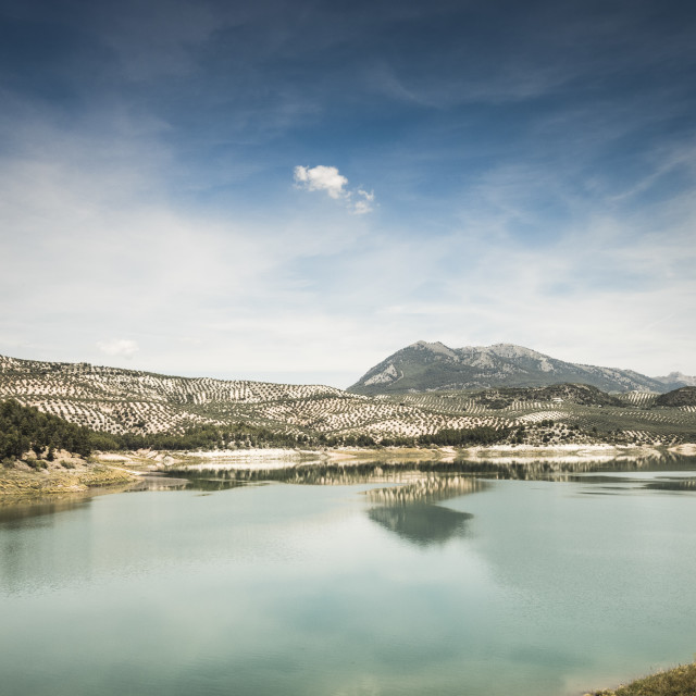 """Iznajar lake, Cordoba province, Spain."" stock image"