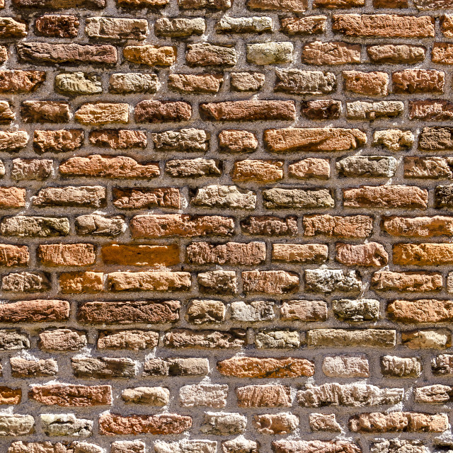 """""""Ageing red brick wall"""" stock image"""