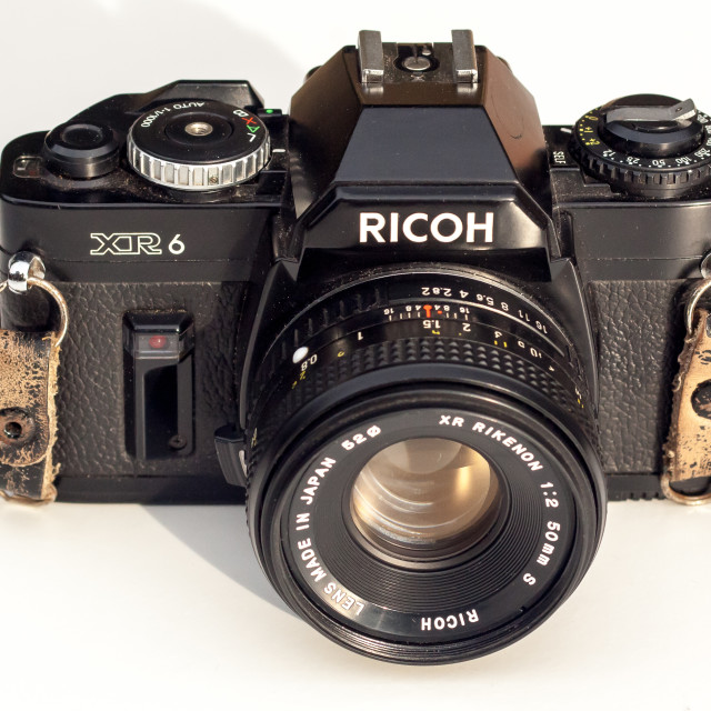 """Ricoh XR6 SLR Camera"" stock image"