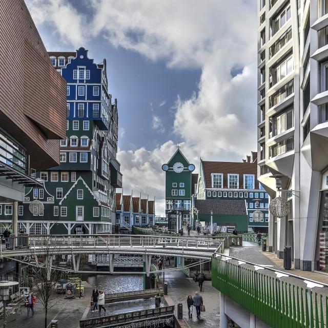 """""""Zaandam modern and traditional architecture"""" stock image"""