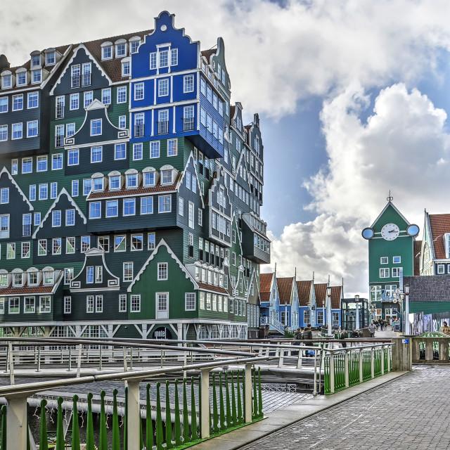 """""""Zaandam stacked houses highrise"""" stock image"""