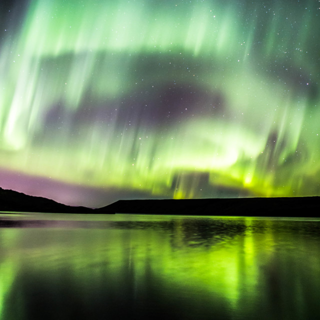 """Northern Lights Forming into a Corona, Part 11"" stock image"