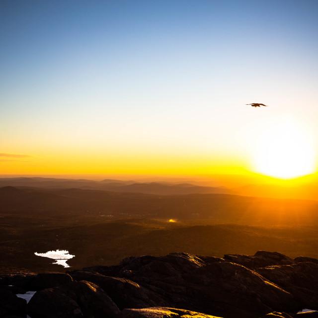 """Sunset at Mt Monadnock"" stock image"
