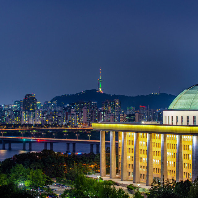 """Night cityscape"" stock image"