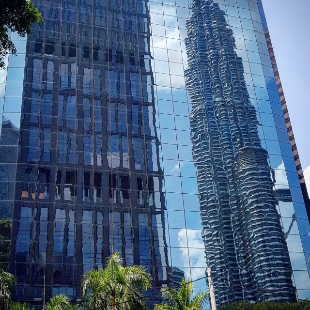 """Petronas Twin Towers reflection"" stock image"