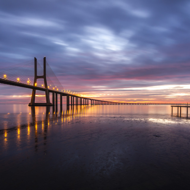 """Vasco da Gama bridge - 2019"" stock image"