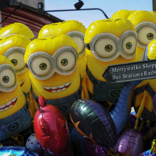 """""""Stroud Fringe Festival 2015. Pictured, Minions"""" stock image"""