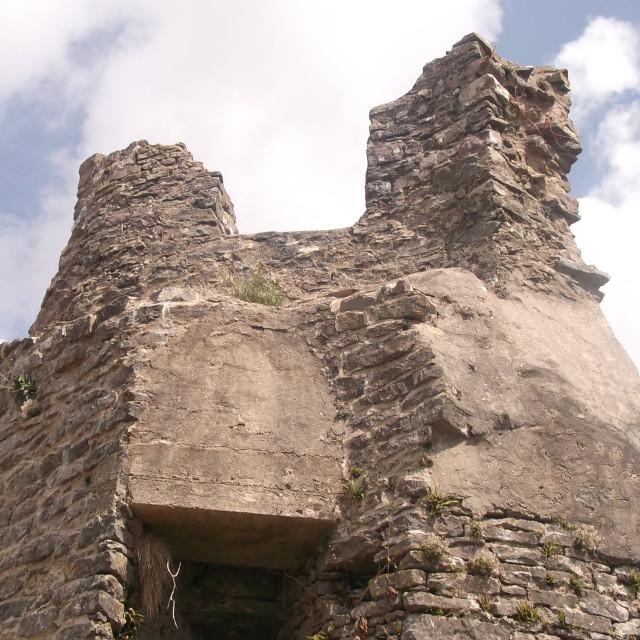 """""""Pennard Castle"""" stock image"""