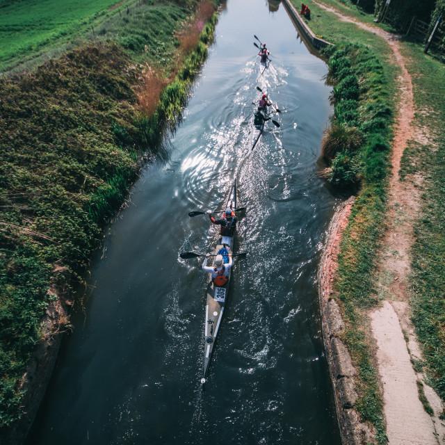 """Canoe race"" stock image"