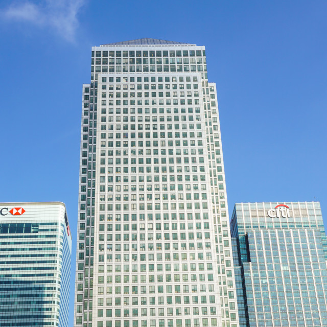 """""""London, Uk - 6th April 2017: HSBC bank HQ in the city of London. HSBC is one..."""" stock image"""