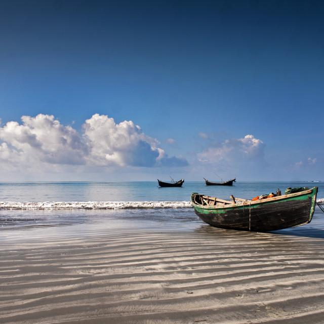 """Sea beach at St. Martin's Island"" stock image"