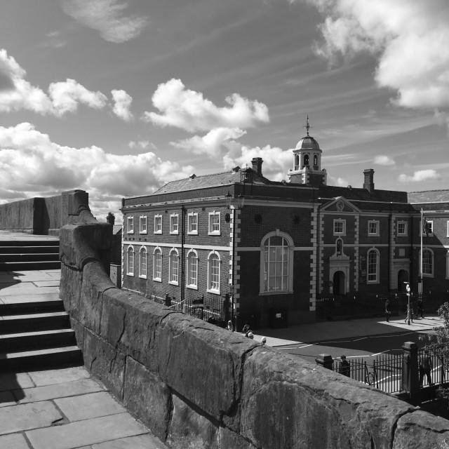"""The Bluecoat Hospital, Chester."" stock image"