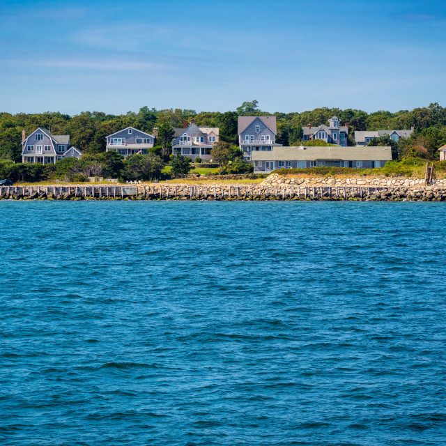 """The overlooking view of the island in Massachusetts at Cape Cod Martha's Vineyard"" stock image"