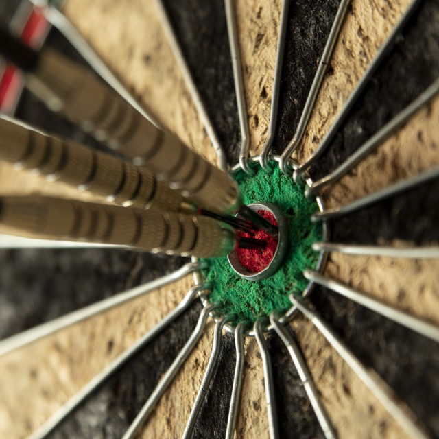 """Tripple Bulls Eye"" stock image"