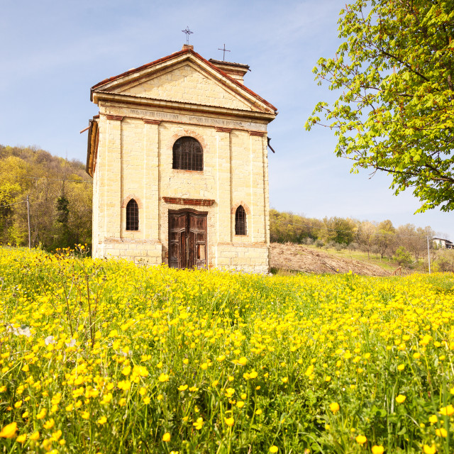 """""""Old countryside church. Color image"""" stock image"""