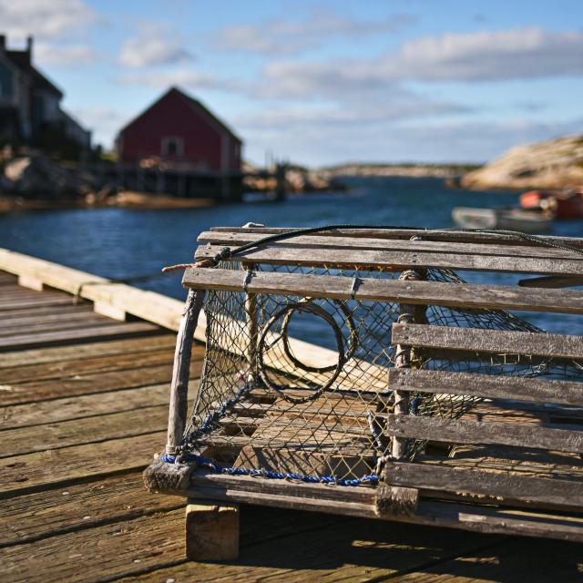 """""""Lobster Basket"""" stock image"""