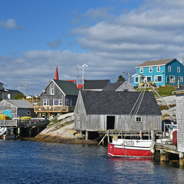 """""""Peggy's Cove"""" stock image"""