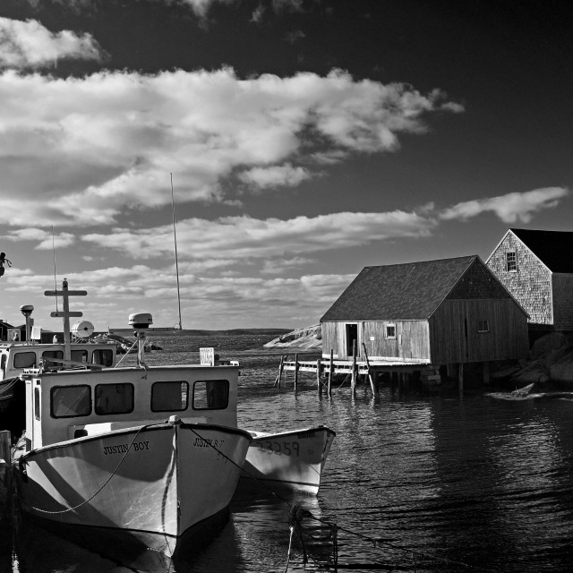 """""""Peggy's Cove Harbour"""" stock image"""