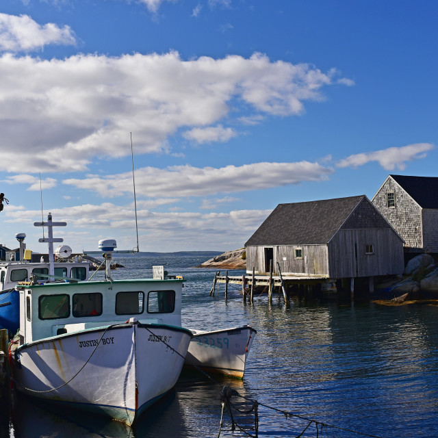"""Peggy's Cove Harbove,our"" stock image"