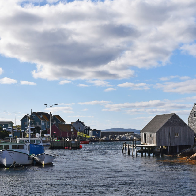"""Peggy's Cove Harbour"" stock image"