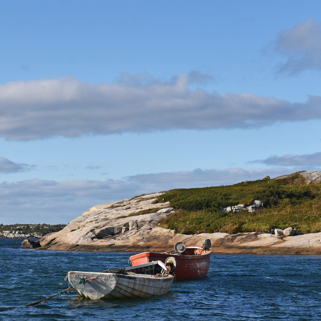 """Peggy's Cove Boats"" stock image"
