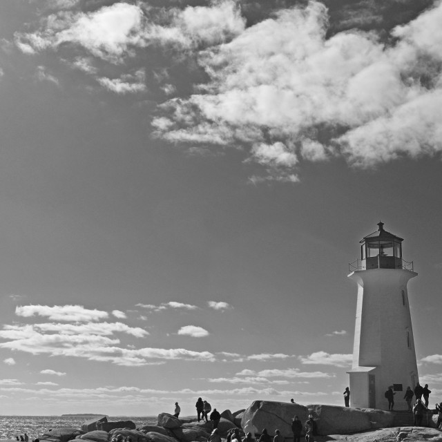 """""""Lighthouse, Peggy's Cove"""" stock image"""