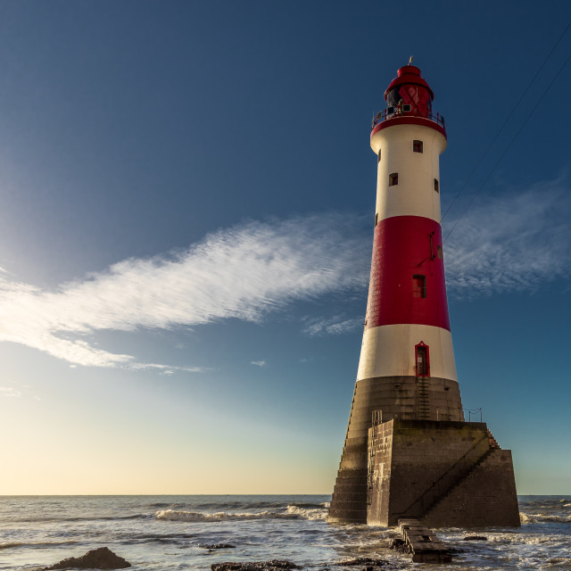 """Beachy Head LightHouse at Sunrise"" stock image"