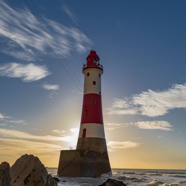 """Beachy Head LightHouse at Sunrise"" stock image"