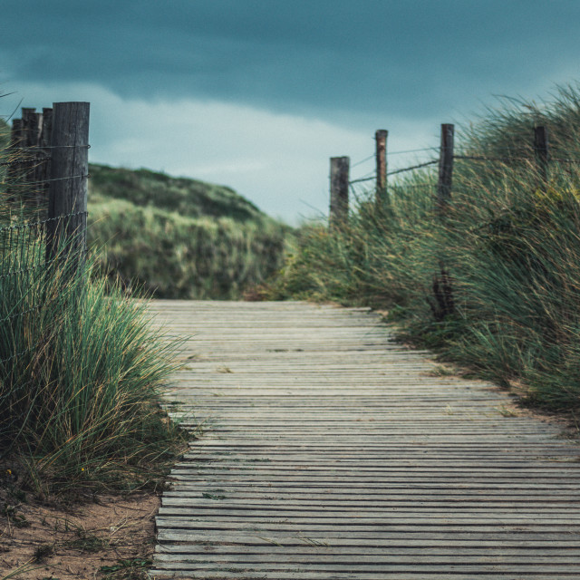 """Cornwall Coastal Path"" stock image"
