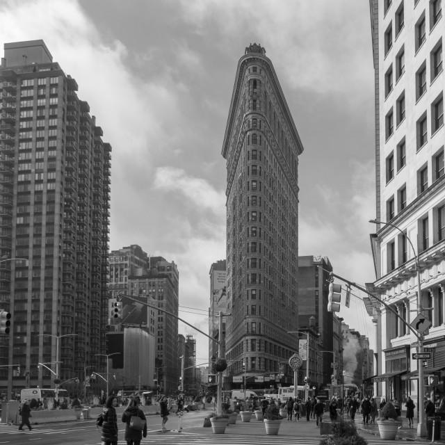 """Flat Iron Building, New York"" stock image"