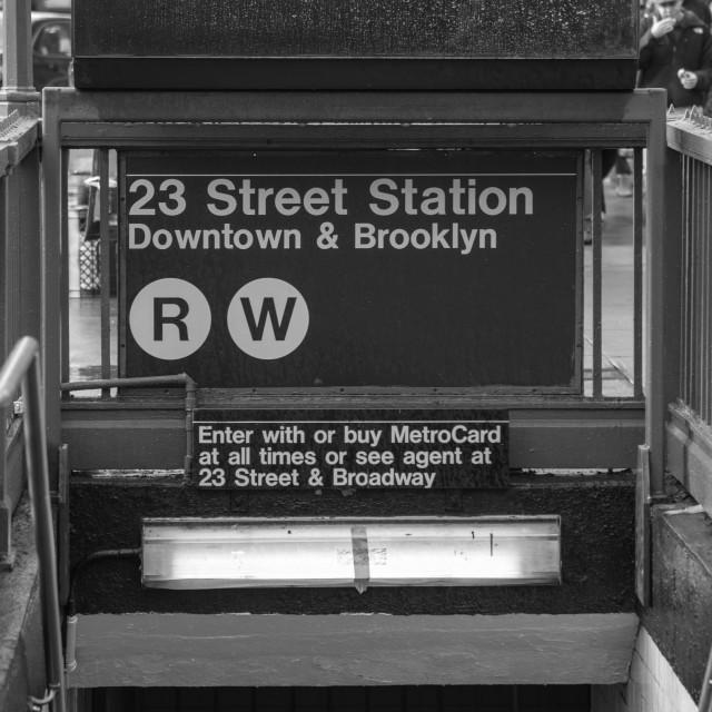"""23rd Street, NYC"" stock image"