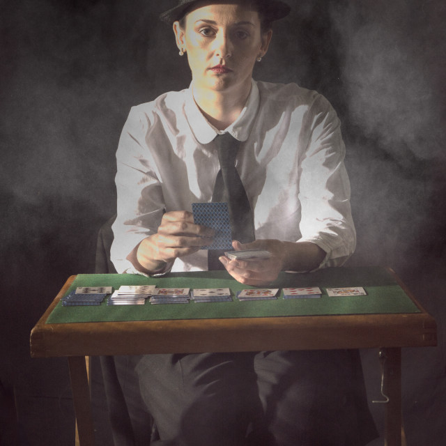 """""""card player"""" stock image"""
