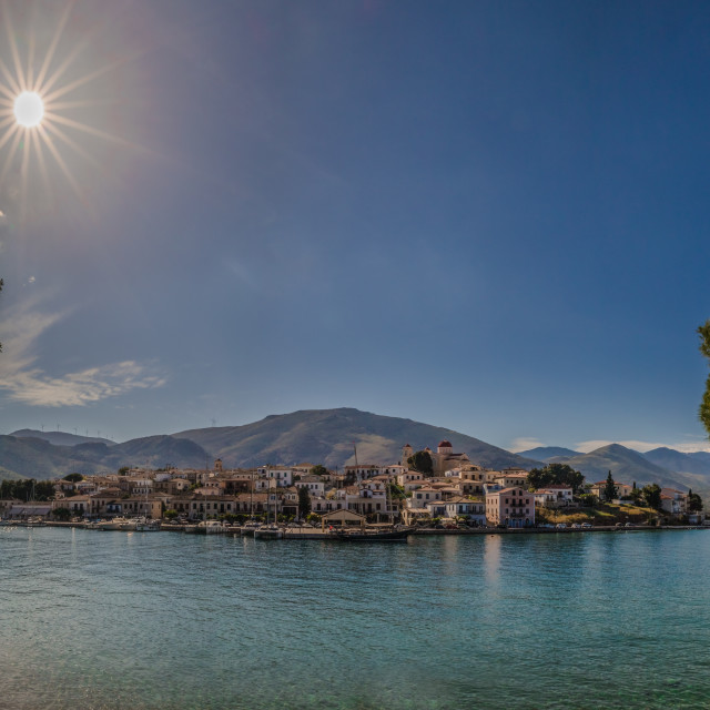 """Sunshine in Galaxidi, Greece."" stock image"