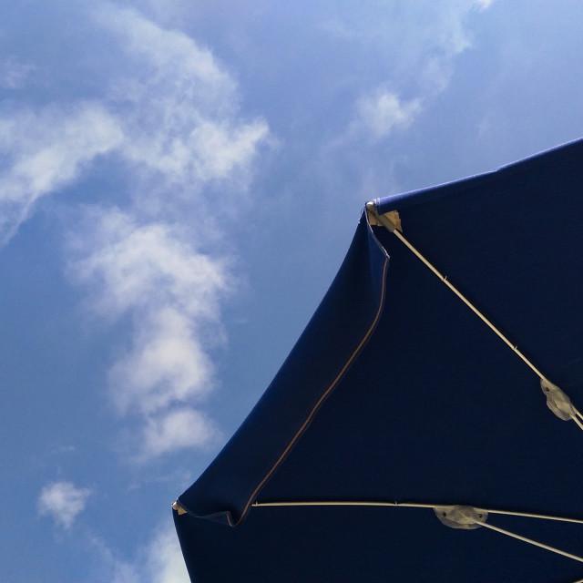 """Blue Parasol"" stock image"