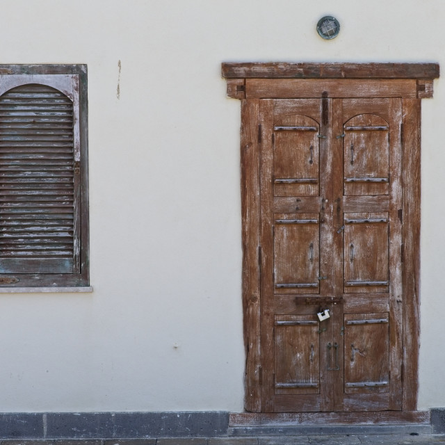 """Doors and Windows of Alghero"" stock image"