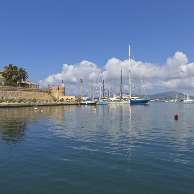 """Marina at Alghero, Sardinia"" stock image"
