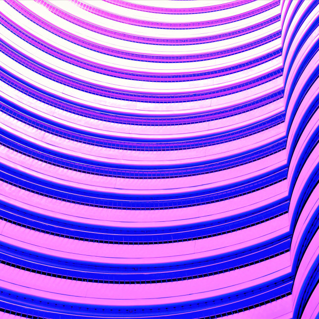 """""""Architectural wave wall"""" stock image"""