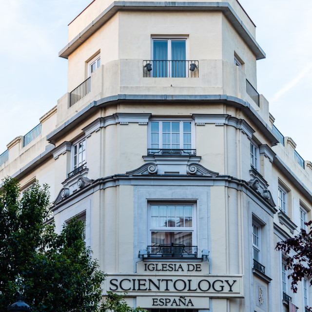 """Church of Scientology building in Madrid"" stock image"