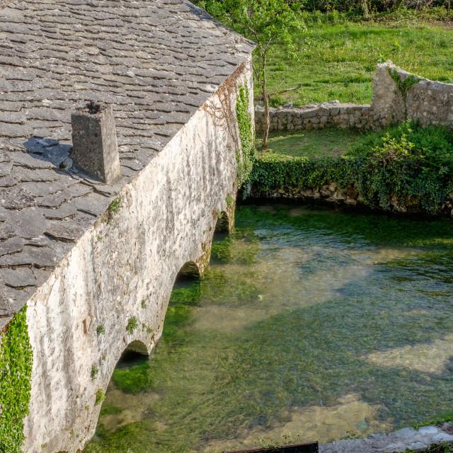 """An old farmhouse in Blagaj"" stock image"