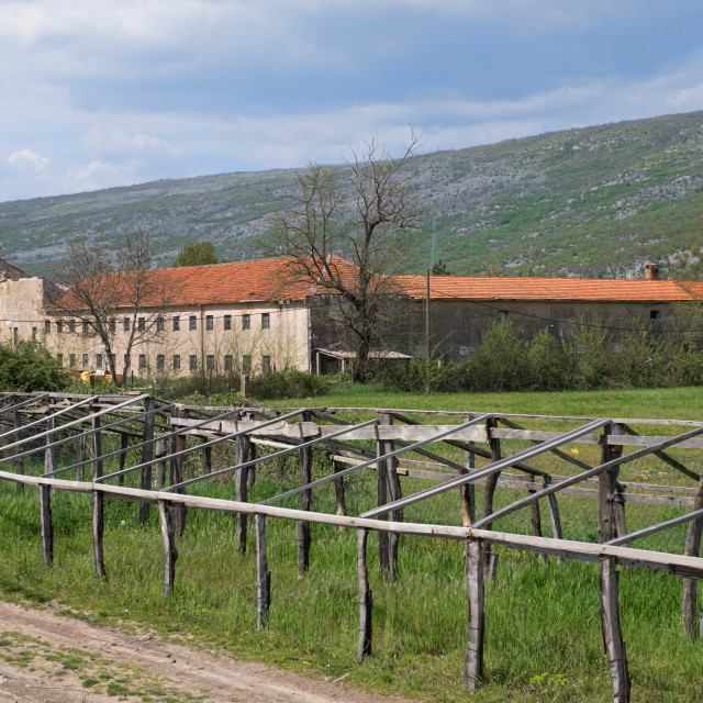"""""""An Old Farm and Countryside in Bosnia"""" stock image"""