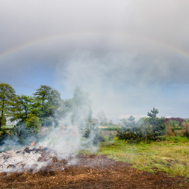 """From Fire To The Rainbow"" stock image"