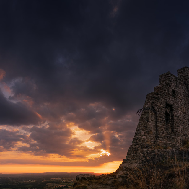 """Mow Cop sunset"" stock image"