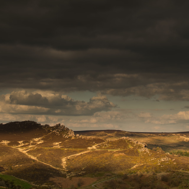 """A moody day on The Roaches, near Leek Staffordshire"" stock image"