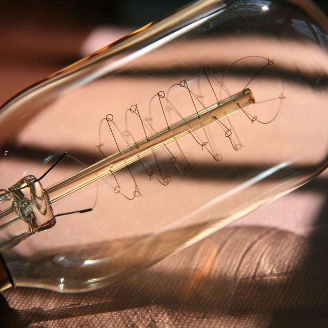 """Retro filament bulb"" stock image"