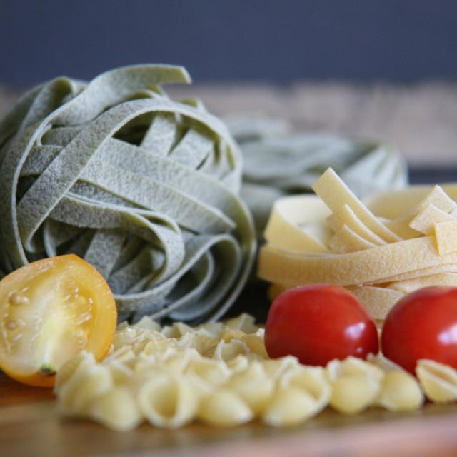 """""""Pasta con pomodoro"""" stock image"""