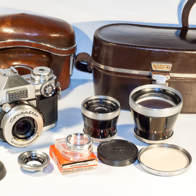 """Zeiss Ikon Contaflex Super SLR Kit"" stock image"