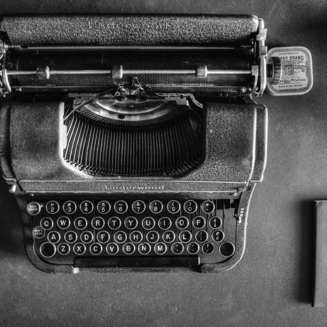 """a vintage Underwood typewriter"" stock image"