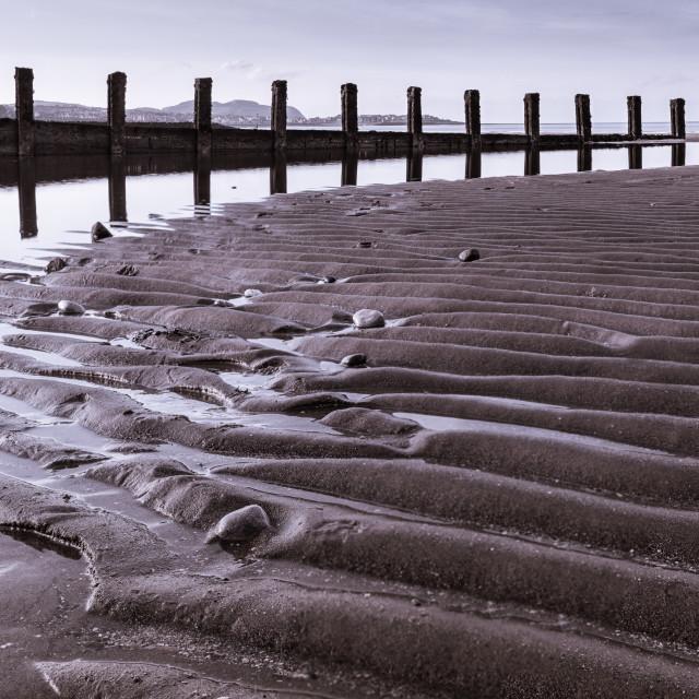 """Colwyn Bay Beach"" stock image"