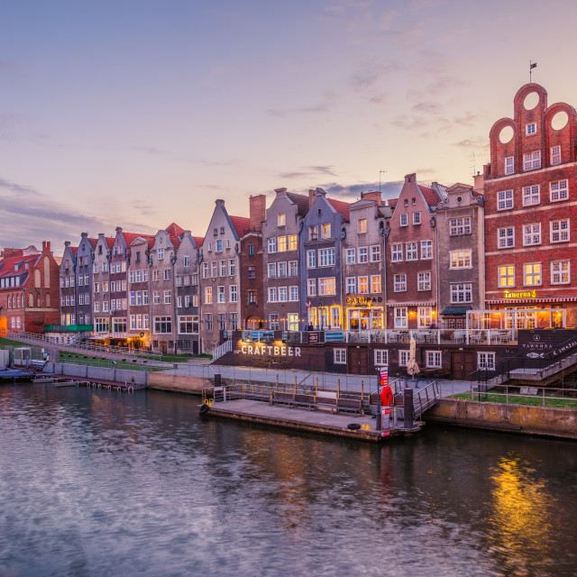 """Gdansk at blue hour"" stock image"