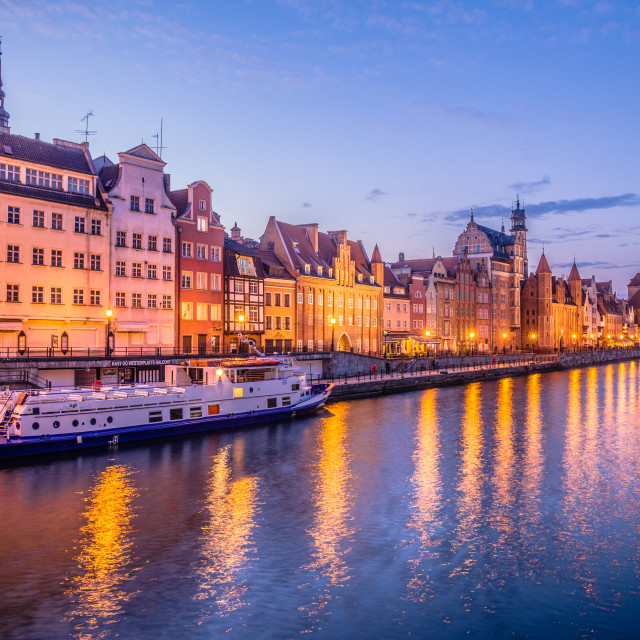 """Gdansk at dusk"" stock image"
